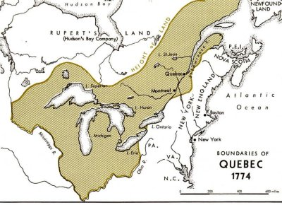 an analysis of the quebec act 1774 Parliament extended its control with the intolerable acts parliament extended its control with the intolerable acts  quebec act date passed: june 22, 1774.
